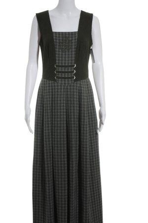 Almrausch Salzburger Trachtenmode Wełniana sukienka Wzór w kratkę