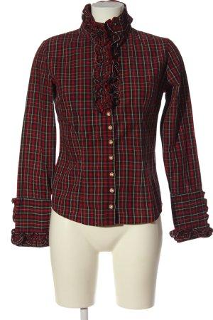 Almsach Shirt met lange mouwen geruite print casual uitstraling