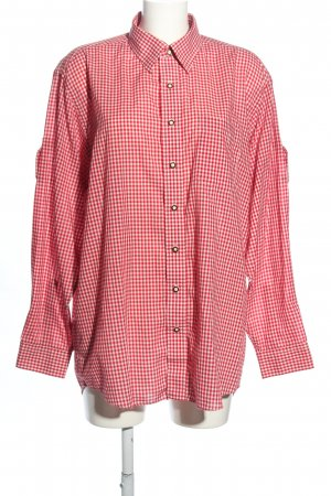 Almsach Camisa de manga larga rojo-blanco look casual