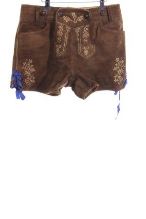 Almsach Pantalone in pelle marrone chiaro-sabbia stile semplice