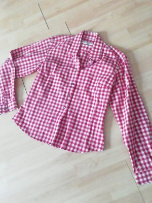 Almsach Traditional Shirt white-brick red