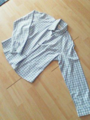 Almsach Folkloristische hemd wit-azuur