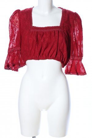 Almsach Blusa folclórica rojo elegante