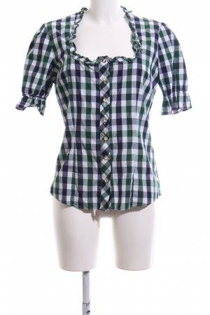 Almsach Trachtenbluse Karomuster Casual-Look