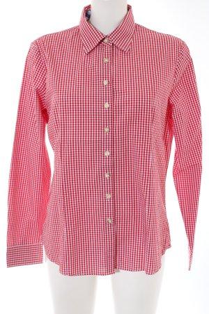 Almsach Chemise bavaroise blanc-rouge motif à carreaux style décontracté