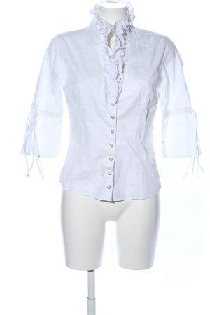 Almsach Camisa folclórica blanco estilo «business»