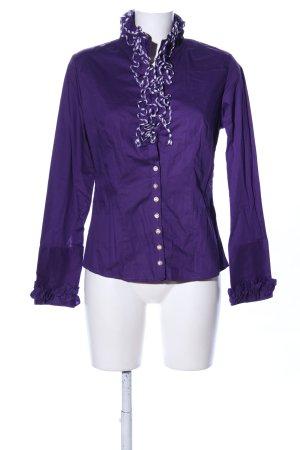 Almsach Chemise bavaroise violet style décontracté