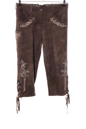 Almsach Pantalone tradizionale marrone stile da moda di strada