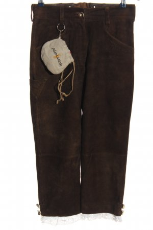 Almsach Pantalon bavarois brun-blanc style décontracté