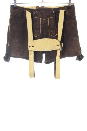Almsach Pantalone tradizionale marrone-giallo pallido stile classico