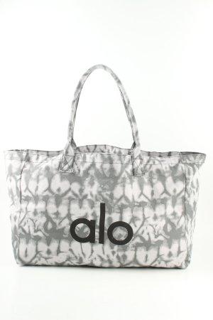 alo Shopper lichtgrijs-wit volledige print casual uitstraling