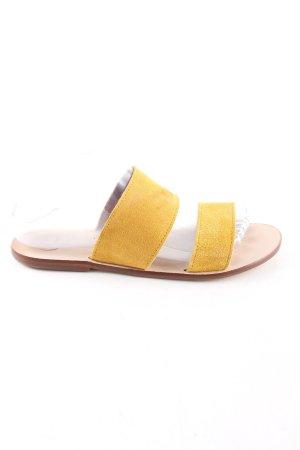 Alohas Komfort-Sandalen blassgelb Casual-Look