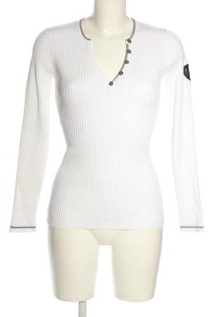 Alp n Rock Koszulka z długim rękawem biały W stylu casual