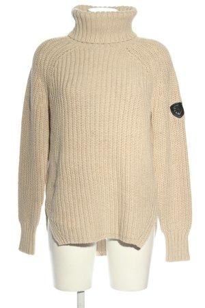 Alp n Rock Sweter z dzianiny kremowy Warkoczowy wzór W stylu casual