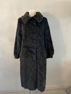 Manteau de fourrure noir-gris anthracite