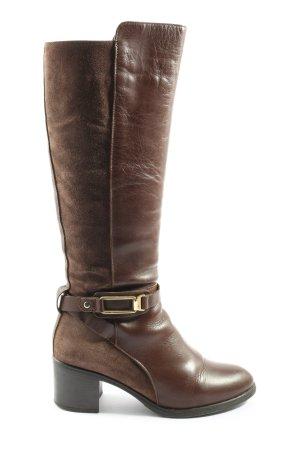 Alpe Woman Stivaletto con zip marrone stile casual