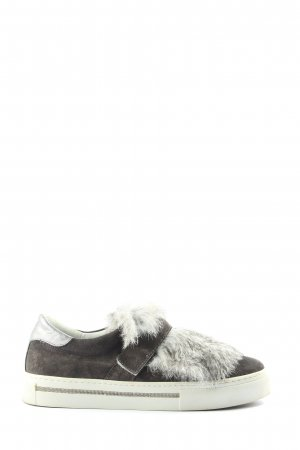 Alpe Woman Slip-on Shoes light grey-silver-colored extravagant style