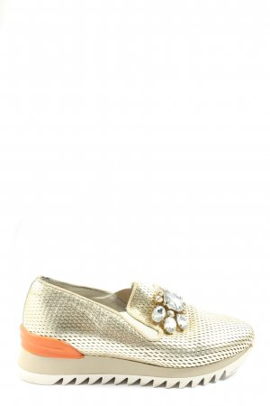 Alpe Woman Slip-on Shoes gold-colored-light orange casual look
