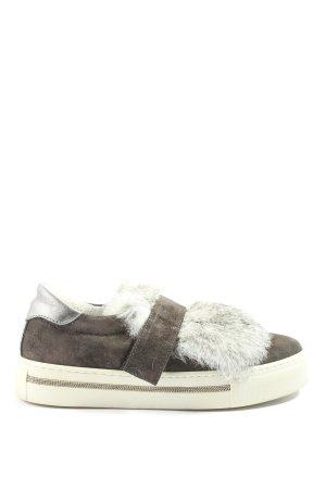 Alpe Woman Sneaker slip-on grigio chiaro stile casual