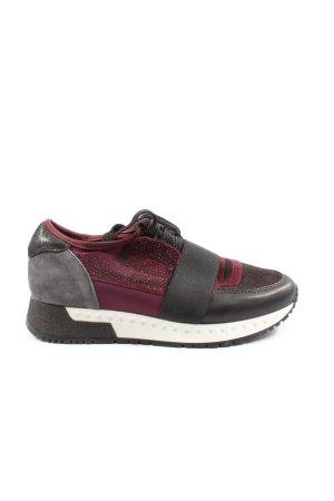 Alpe Woman Sneakers met veters zwart-rood casual uitstraling