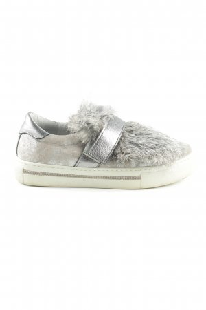 Alpe Slip-on Shoes light grey-silver-colored casual look