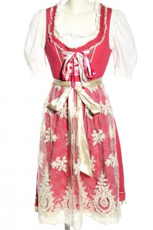 Alpenfee Dirndl red-white graphic pattern casual look