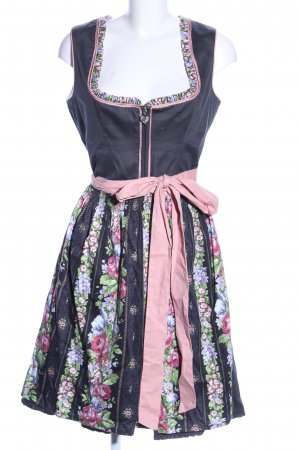 Alpenfee Dirndl blue-pink flower pattern party style
