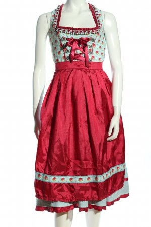 Alpenfee Dirndl turquoise-red flower pattern wet-look