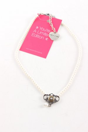 Alpenflüstern Collana di perle crema elegante