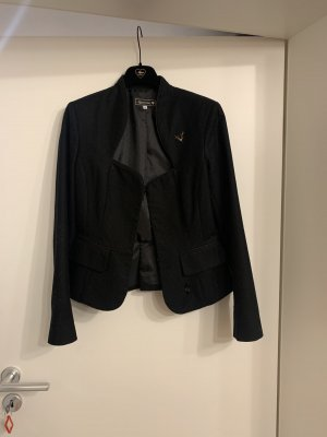 Alpenherz Blazer en tweed noir