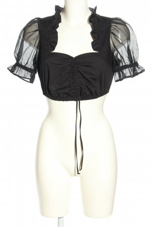 Alpenherz Traditional Blouse black extravagant style