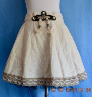 Jupe bavaroise beige clair tissu mixte