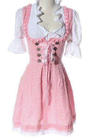 Alpenmärchen Dirndl white-pink check pattern casual look