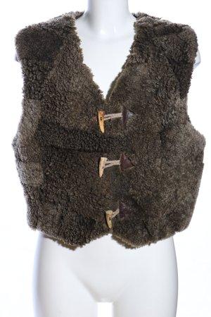 Tradycyjna kamizelka khaki-brązowy Wygląd w stylu miejskim