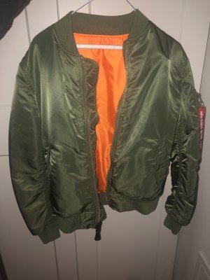 Alpha Industries Blouson aviateur vert olive-orange