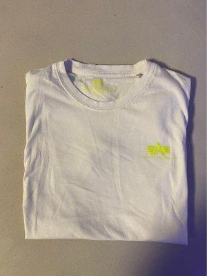 Alpha Industries Camiseta blanco-amarillo