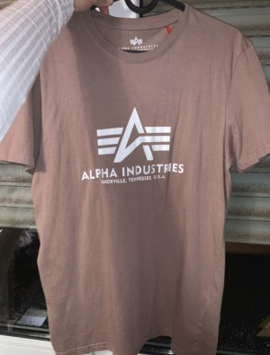 Alpha Industries Camiseta color rosa dorado-blanco