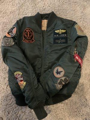 Alpha Industries Blouson aviateur vert foncé