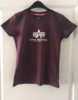 Alpha Industries T-shirt marrone-viola Tessuto misto