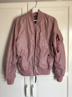 Alpha Industries Chaqueta bomber rosa Nailon