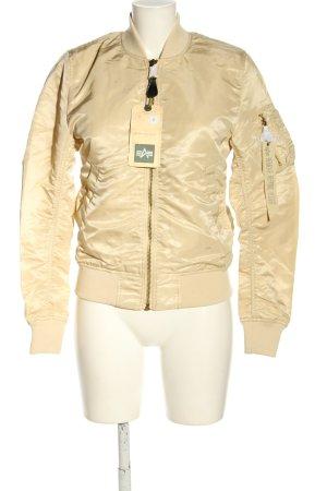 Alpha Industries Bomber Jacket cream casual look