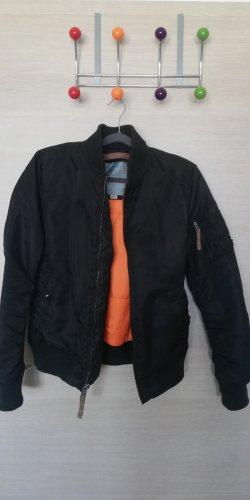 Alpha Industries Blouson aviateur noir-orange fluo