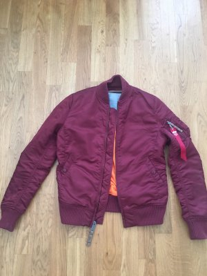 Alpha Industries Bomberjack bordeaux