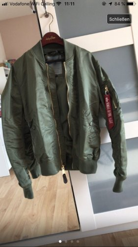 Alpha Industries Chaqueta bomber caqui-color oro