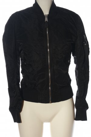 Alpha Industries Chaqueta bomber negro look casual