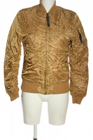 Alpha Industries Bomber Jacket brown-cream abstract pattern casual look
