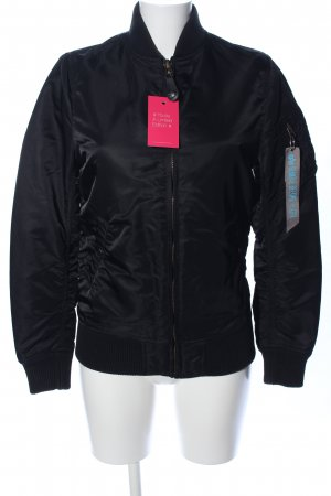 Alpha Industries Bomberjacke schwarz Casual-Look