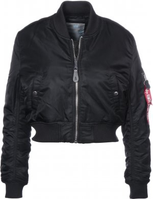 Alpha Industries Chaqueta bomber negro-color plata