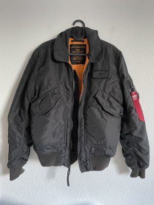 Alpha Industries Bomberjack zwart-oranje