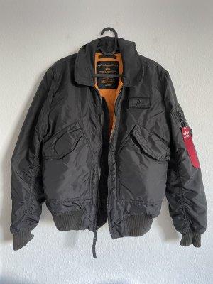 Alpha Industries Giacca bomber nero-arancione
